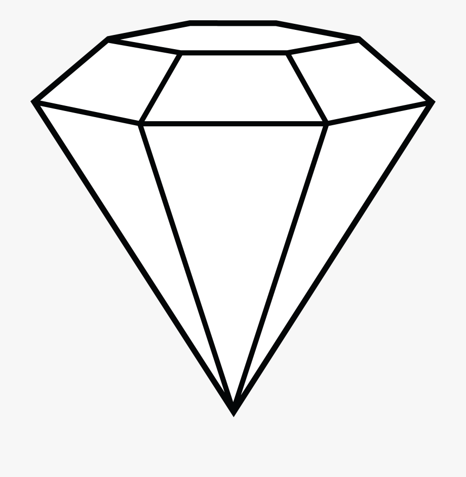 Free clipart of diamonds clipart royalty free library Diamond Line Art Free Clip Art - White Diamond Vector Png #87645 ... clipart royalty free library