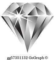 Free clipart of diamonds png black and white stock Diamond Clip Art - Royalty Free - GoGraph png black and white stock