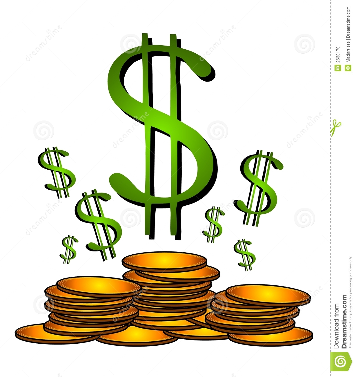Free clipart of dollar signs jpg freeuse Green Dollar Sign Clipart | Clipart Panda - Free Clipart Images jpg freeuse