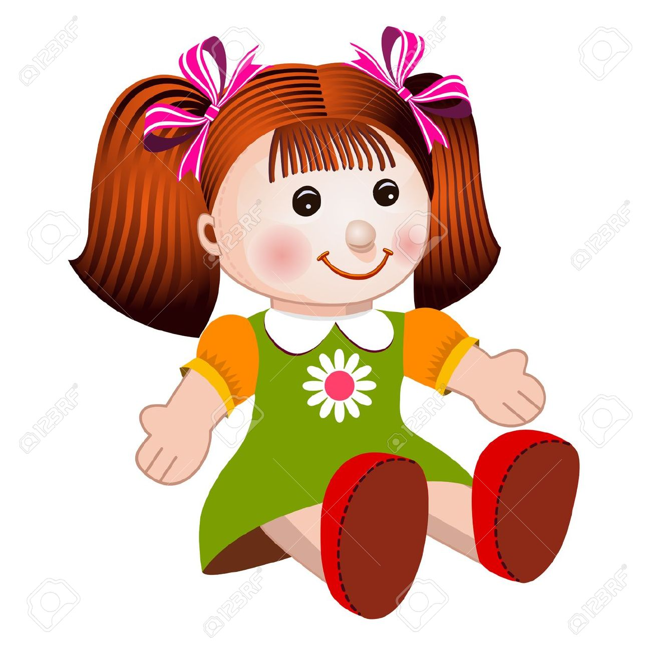 Doll clip art panda. Free clipart of dolls