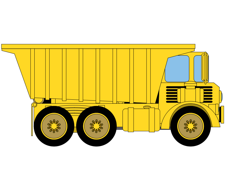 Free clipart of dump truck with load. Azieser