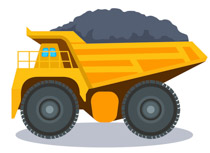 Clip art pictures graphics. Free clipart of dump truck with load