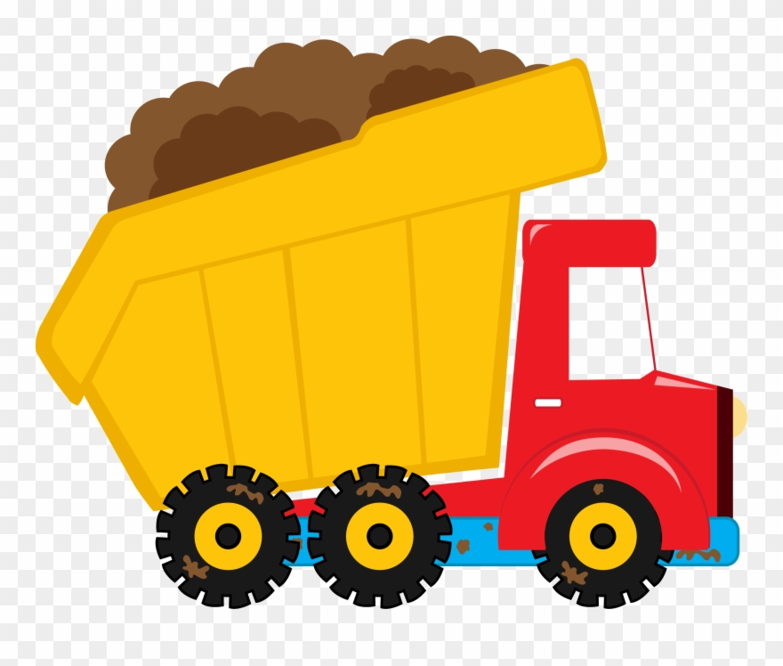 Free clipart of dump truck with load. More from my site
