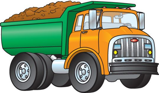 Cliparts download clip art. Free clipart of dump truck with load