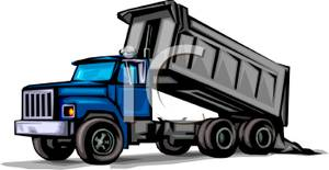 Free clipart of dump truck with load. A heavy construction dumping