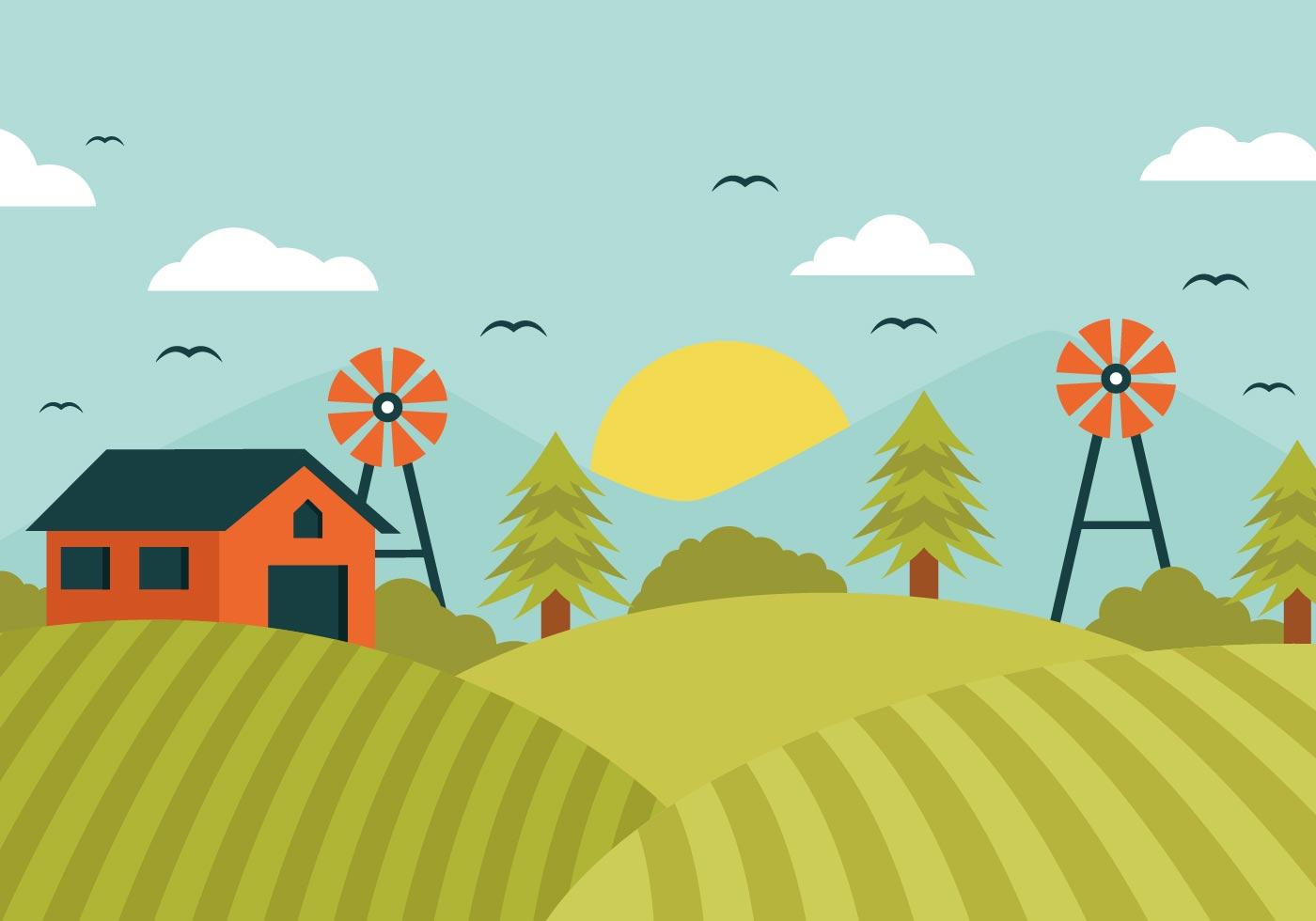 Free clipart of farmers in the fields. Farm vector art downloads