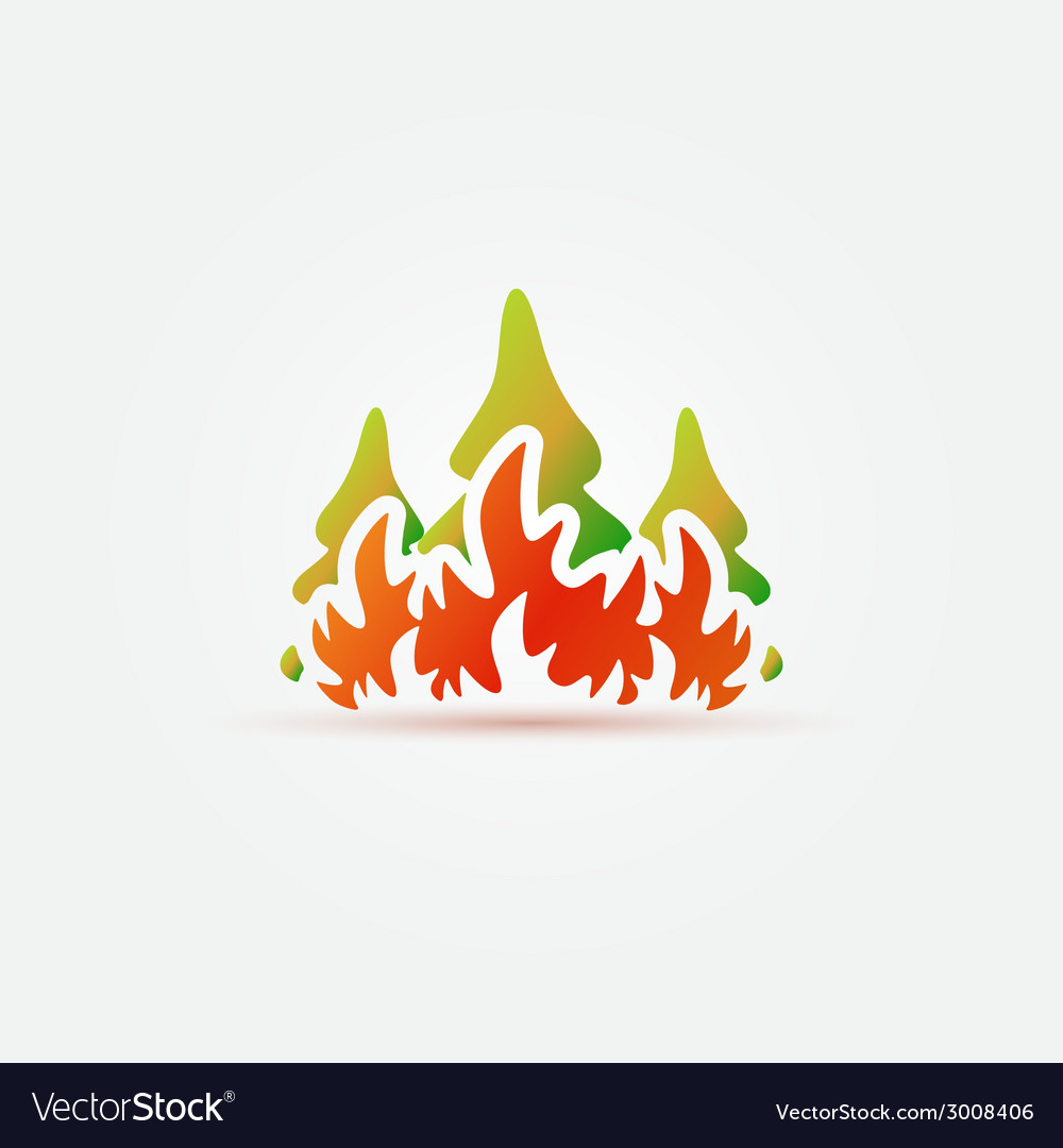 Free clipart of fire burning in forest clip library download Burning forest trees in fire flames icon clip library download