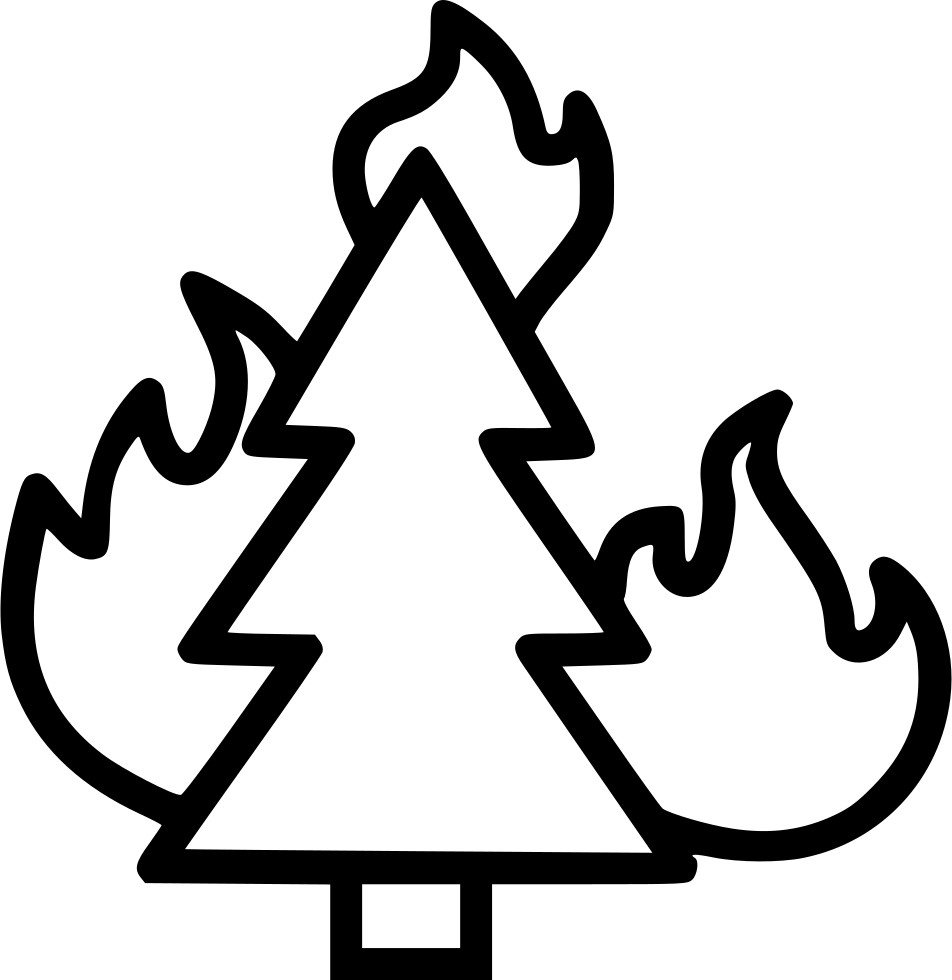 Free clipart of fire burning in forest vector black and white stock Wildfire Forest Fire Bonfire Combustion Burning Trees Svg Png Icon ... vector black and white stock