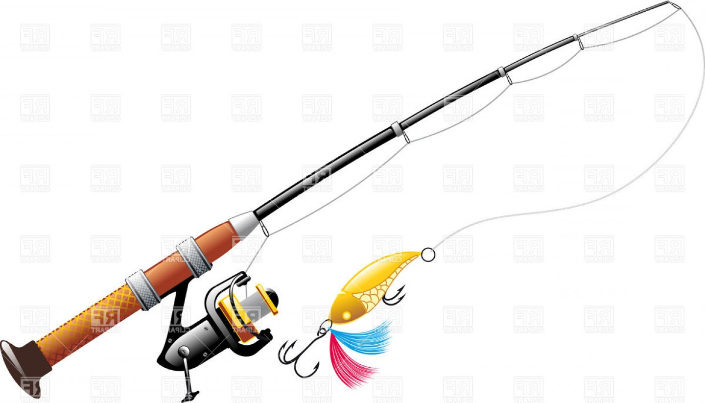 Spinning with spoon bait. Free clipart of fishing poles and lures
