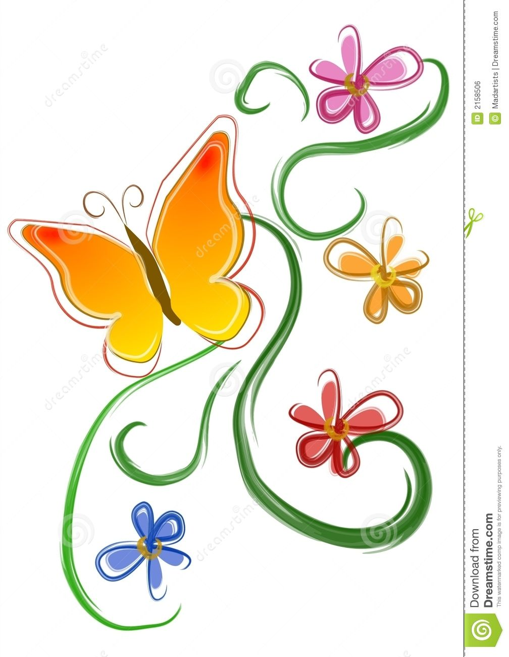 Free clipart of flowers and butterflies clipart library library Butterfly Flowers Clip Art 01 Royalty Free Stock Image - Image Could ... clipart library library