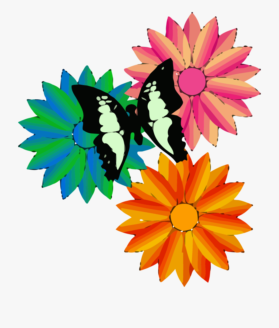 Free clipart of flowers and butterflies image royalty free library Flowers Butterfly Clipart Png - Cartoon Flowers And Butterflies ... image royalty free library