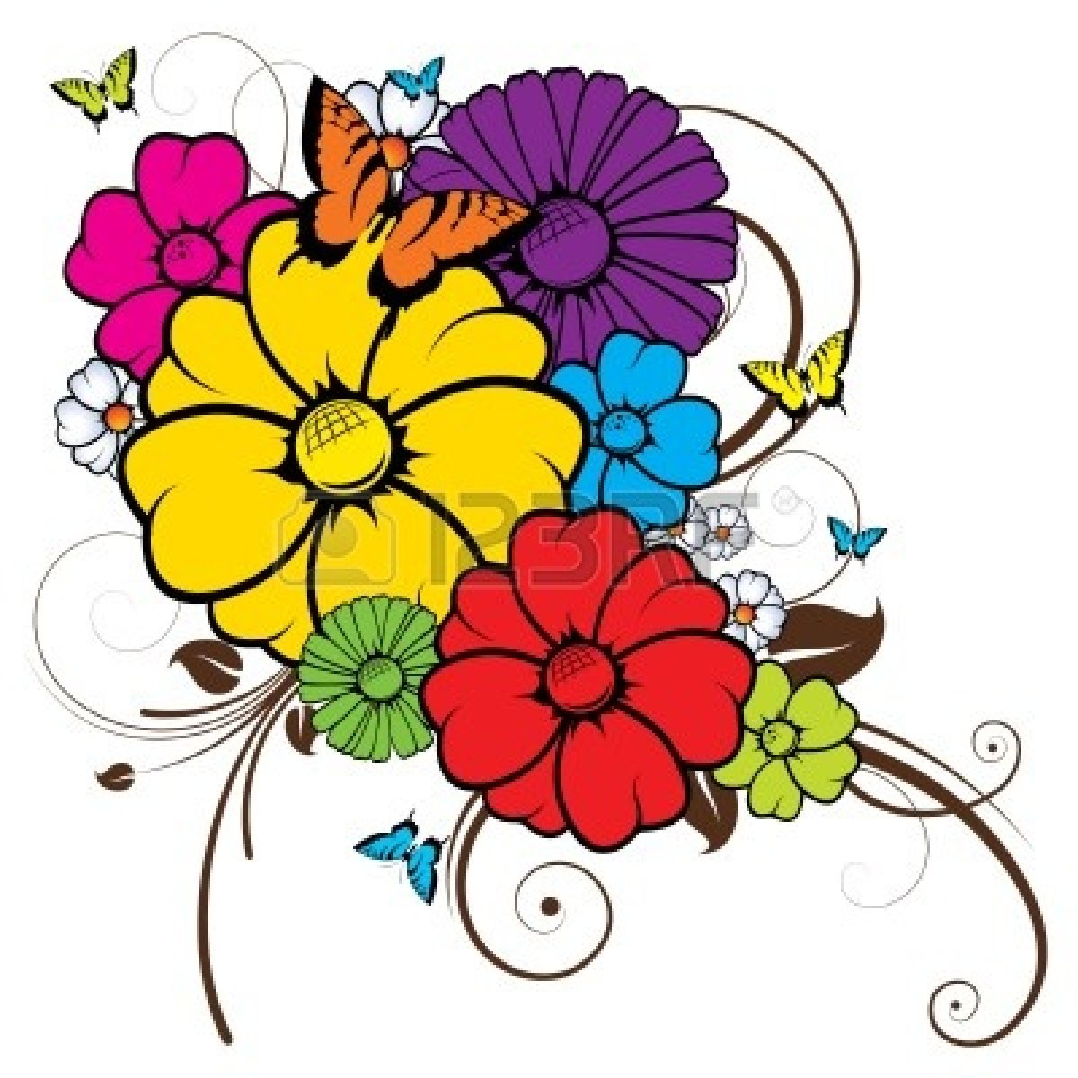 Free clipart of flowers and butterflies picture library library Free Flowers And Butterflies Clipart, Download Free Clip Art, Free ... picture library library