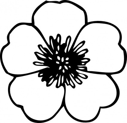 Free clipart of flowers black and white image Free White Flower Clipart, Download Free Clip Art, Free Clip Art on ... image