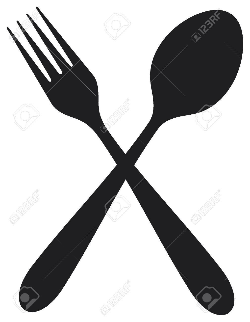 Free clipart of fork spoon and knife border jpg library download Spoon Fork Cliparts | Free download best Spoon Fork Cliparts on ... jpg library download