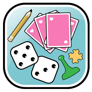 Look at clip art. Free clipart of games