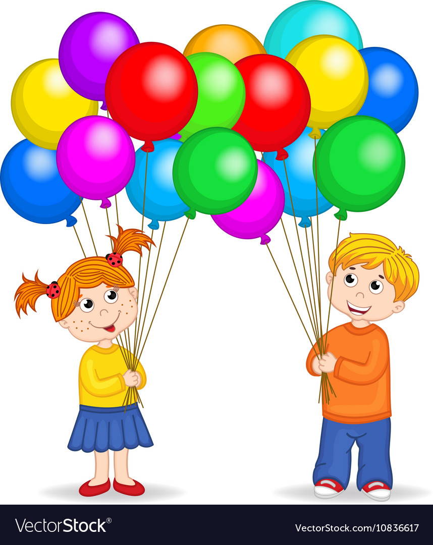 Free clipart of girl holding happy balloons clipart library stock Boy and girl holding balloons clipart library stock