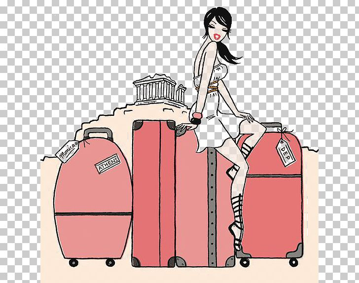 Free clipart of globe luggage and female traveler. Travel suitcase road trip