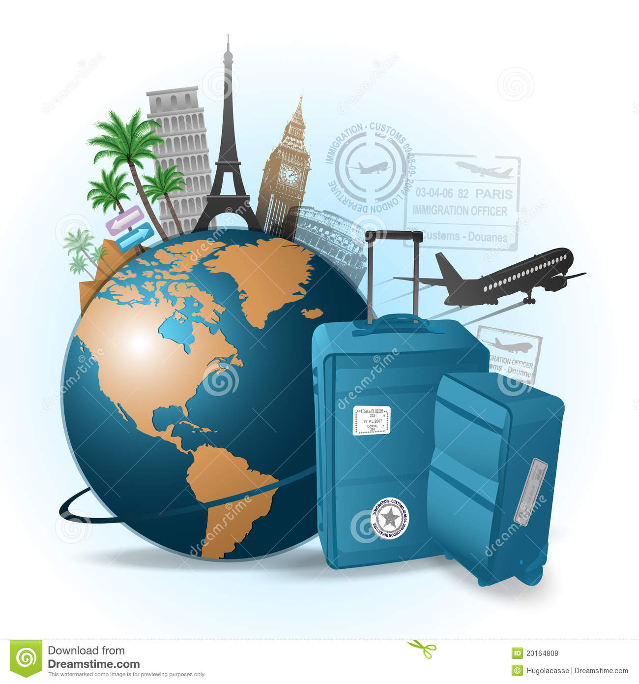 Travel images group with. Free clipart of globe luggage and female traveler