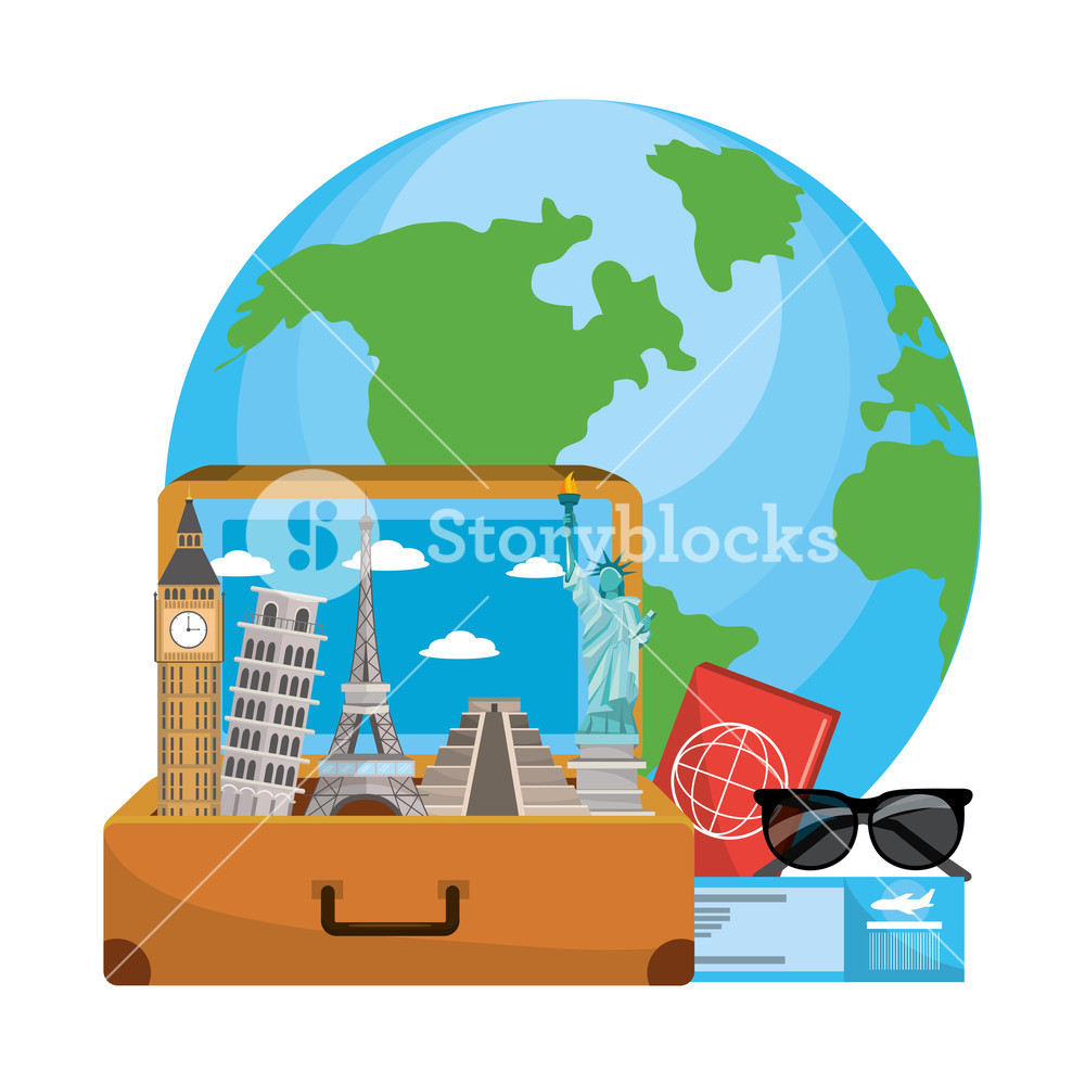 Free clipart of globe luggage and female traveler. Travel world in the