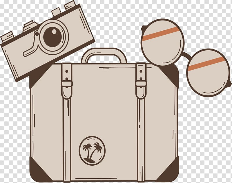 Suitcase travel retro wind. Free clipart of globe luggage and female traveler