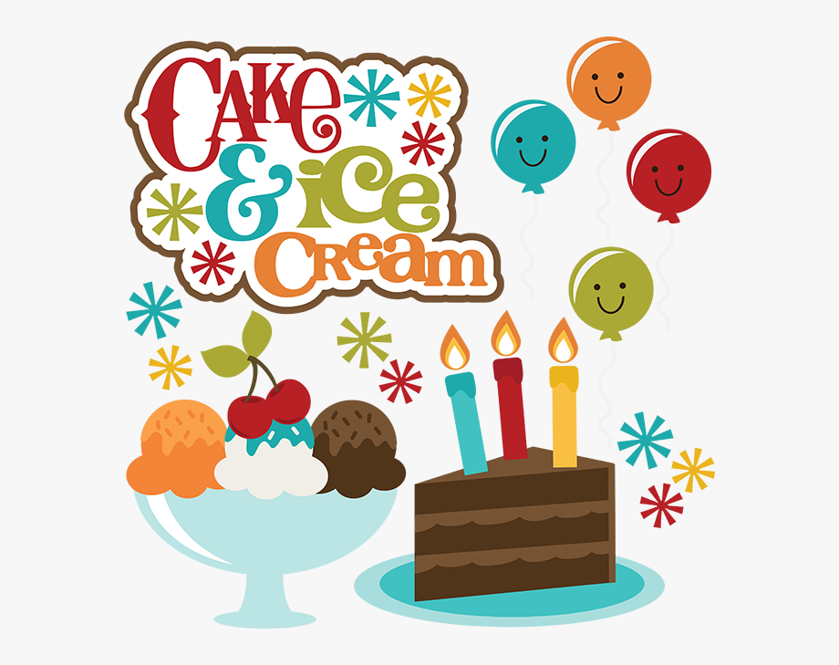 Free clipart of happy birthday cake and ice cream clipart black and white Cake & Ice Cream To Celebrate Your Big Day Happy Birthday - Cake And ... clipart black and white