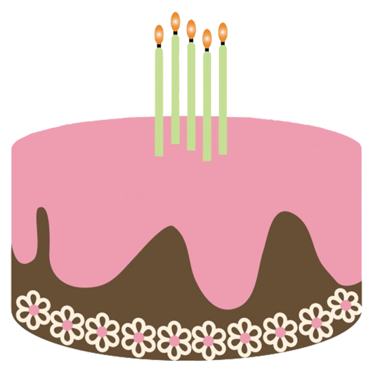 Free clipart of happy birthday with 4 candle svg royalty free Birthday Clip Art and Free Birthday graphics svg royalty free