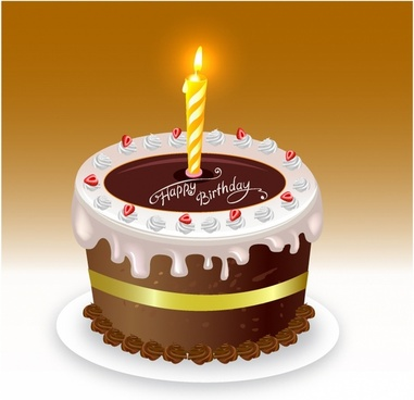 Free clipart of happy birthday with 4 candle. Cake vector download