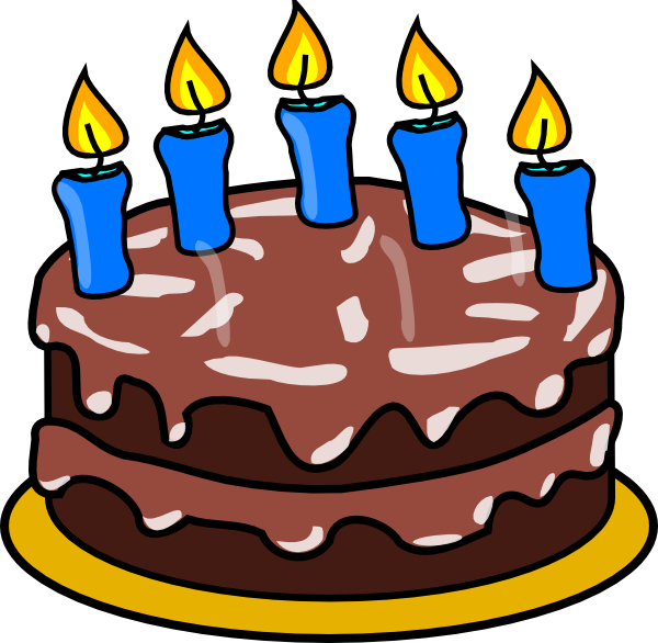 Cake clip art arts. Free clipart of happy birthday with 4 candle