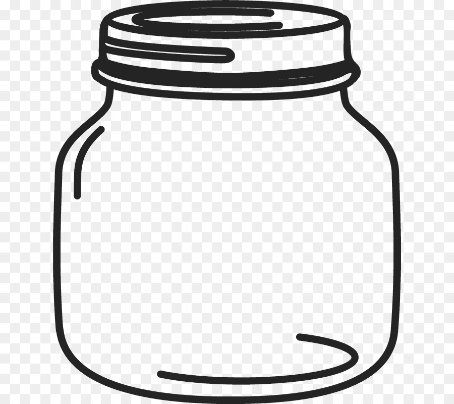 Free clipart of healthy lunch with mason jars picture black and white Book Black And White png download - 690*800 - Free Transparent Mason ... picture black and white