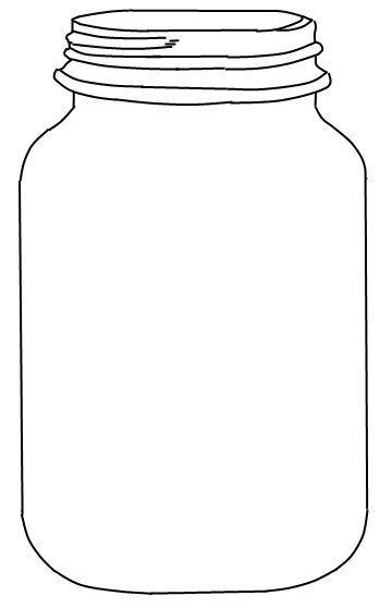 Free clipart of healthy lunch with mason jars graphic transparent stock Mason Jar Outline Template - Bing Images | Bulletin board ideas ... graphic transparent stock