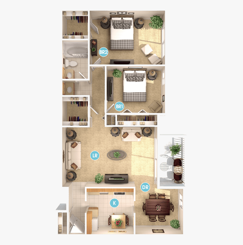 Free clipart of house with master bedroom clipart Gaithersburg Md Two Bedroom At Brighton Village - One Bedroom ... clipart