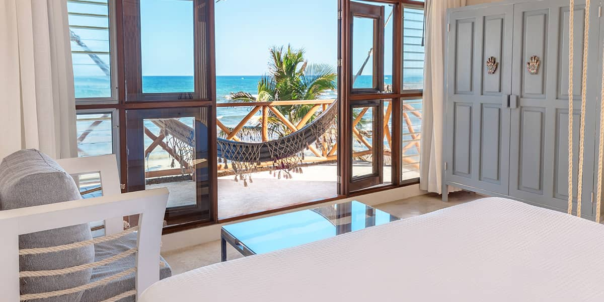 Free clipart of house with master bedroom image freeuse download Beachfront Master Suite - Tulum Hotel El Pez image freeuse download