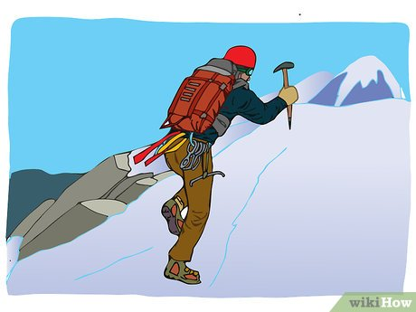 Free clipart of icy mountain and climber clip free download How to Climb a Mountain: 13 Steps (with Pictures) - wikiHow clip free download