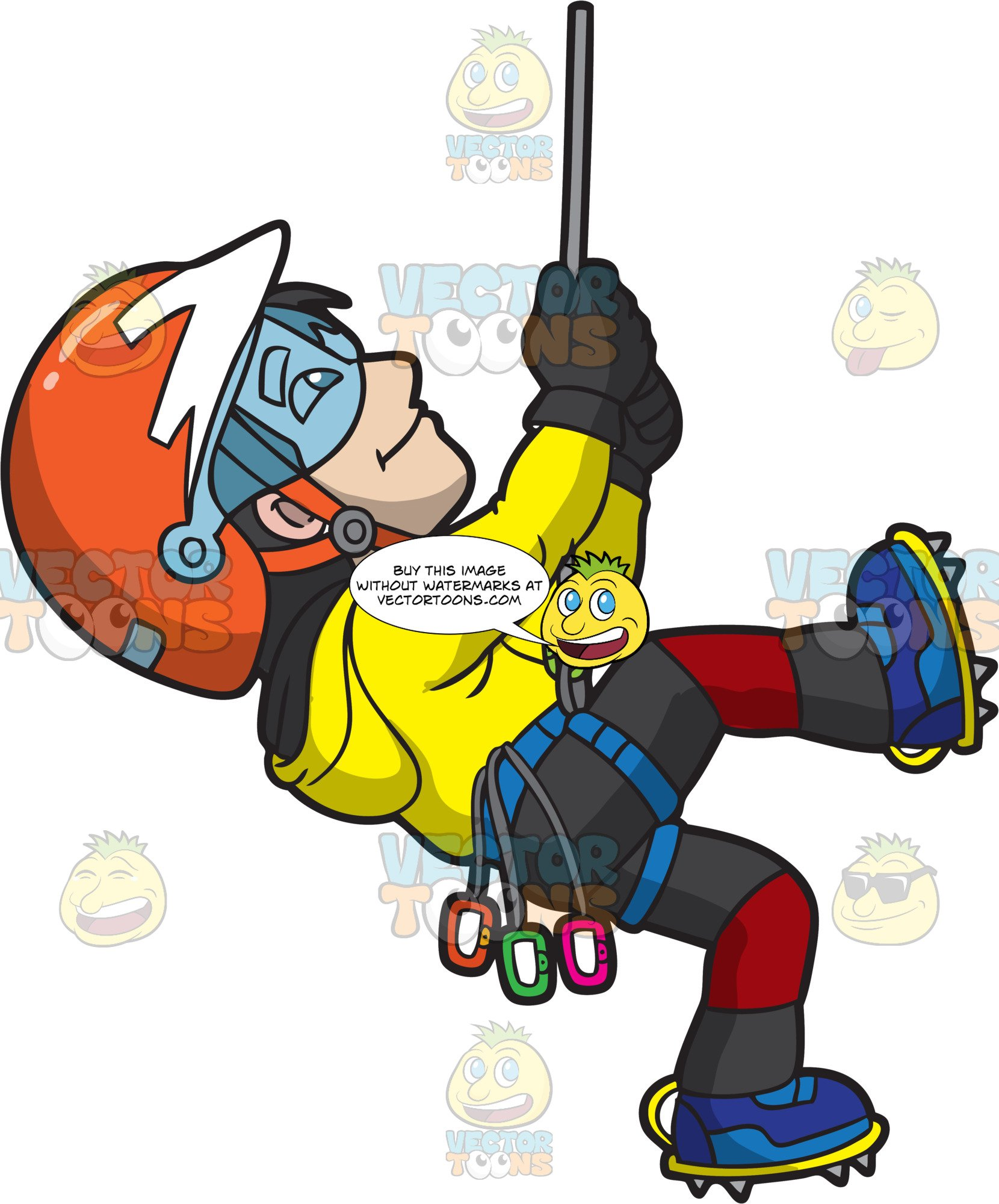 Free clipart of icy mountain and climber png library download An Active Man Climbing An Ice Mountain png library download