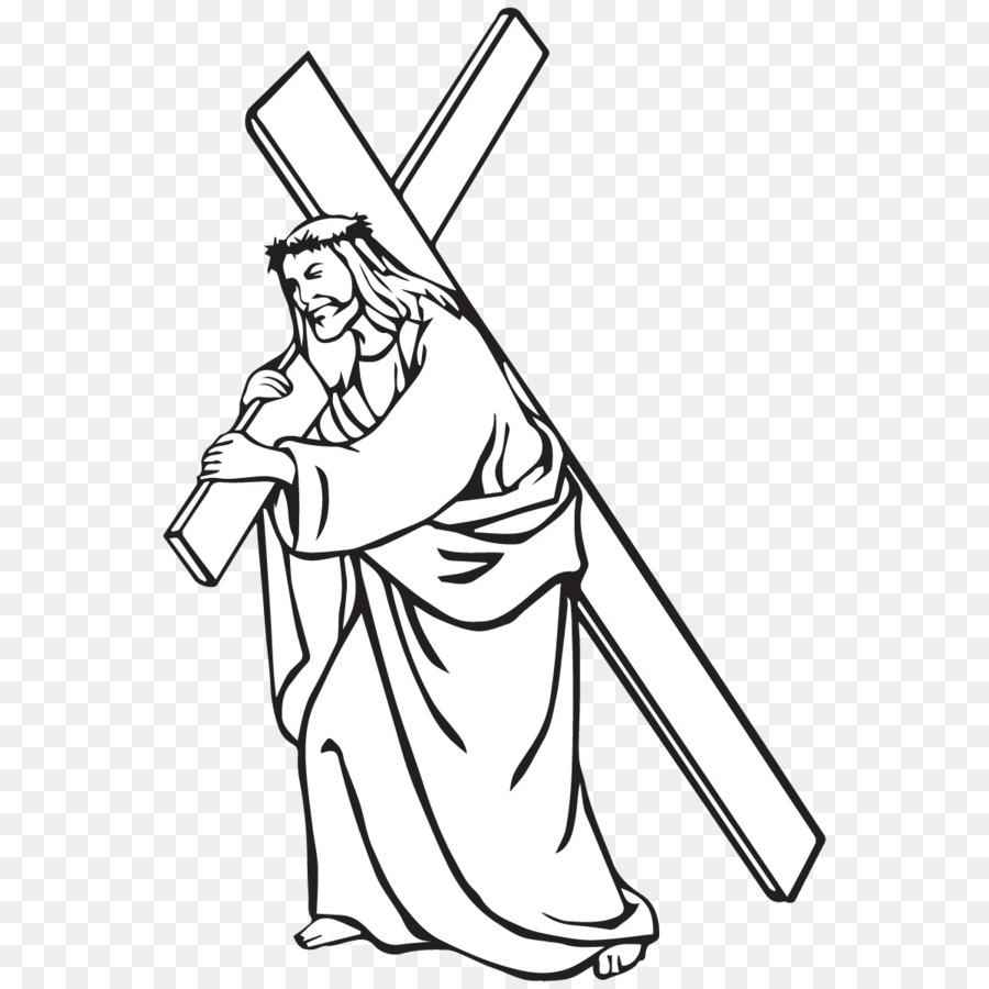 Free clipart of jesus carring a man royalty free download Jesus Carrying Cross Drawing at PaintingValley.com   Explore ... royalty free download