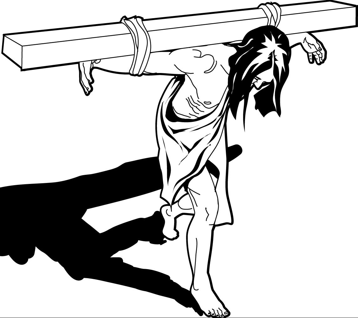 Free clipart of jesus carring a man clipart freeuse library Best Jesus Carrying The Cross Clip Art Photos » Free Vector Art ... clipart freeuse library