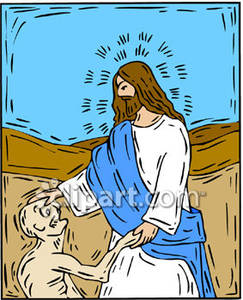 Free clipart of jesus healing the sick png freeuse download Jesus Healing A Sick Man - Royalty Free Clipart Picture png freeuse download