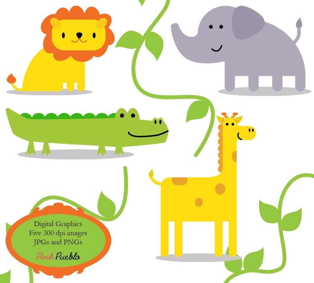 Free clipart of jungle animals. Clip art zoo safari
