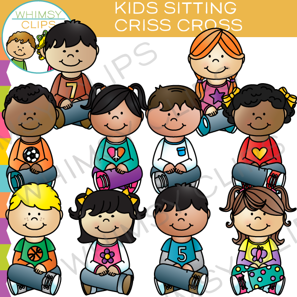 Free clipart of kids sitting criss cross clip library Kids Sitting Criss Cross Clip Art | Teaching Ideas | Art, Clip art ... clip library