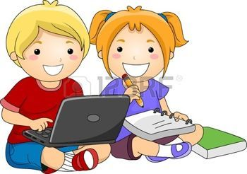 Free clipart of kids using a laptop