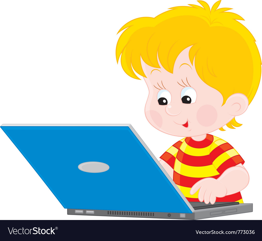 Free clipart of kids using a laptop svg freeuse download Boy with a laptop svg freeuse download
