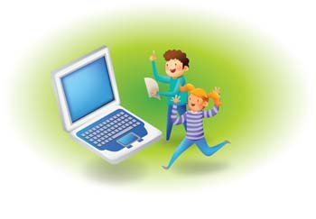 Free clipart of kids with a laptop svg Free Kids and laptops Clipart and Vector Graphics - Clipart.me svg