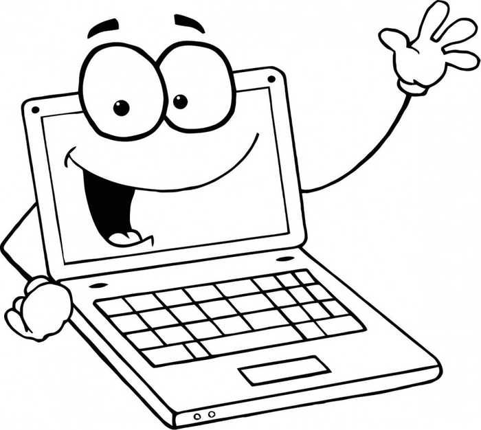 Free clipart of kids with a laptop svg library Computer Coloring Pages Printable | Education Coloring Pages ... svg library
