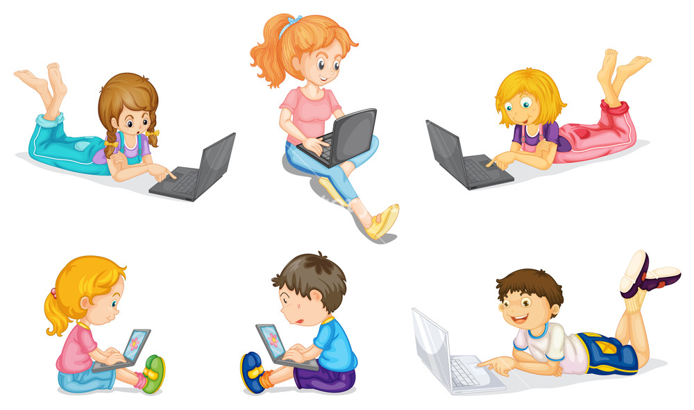 Free clipart of kids with a laptop clipart download illustration of a kids with laptop on a white Royalty-Free Stock ... clipart download