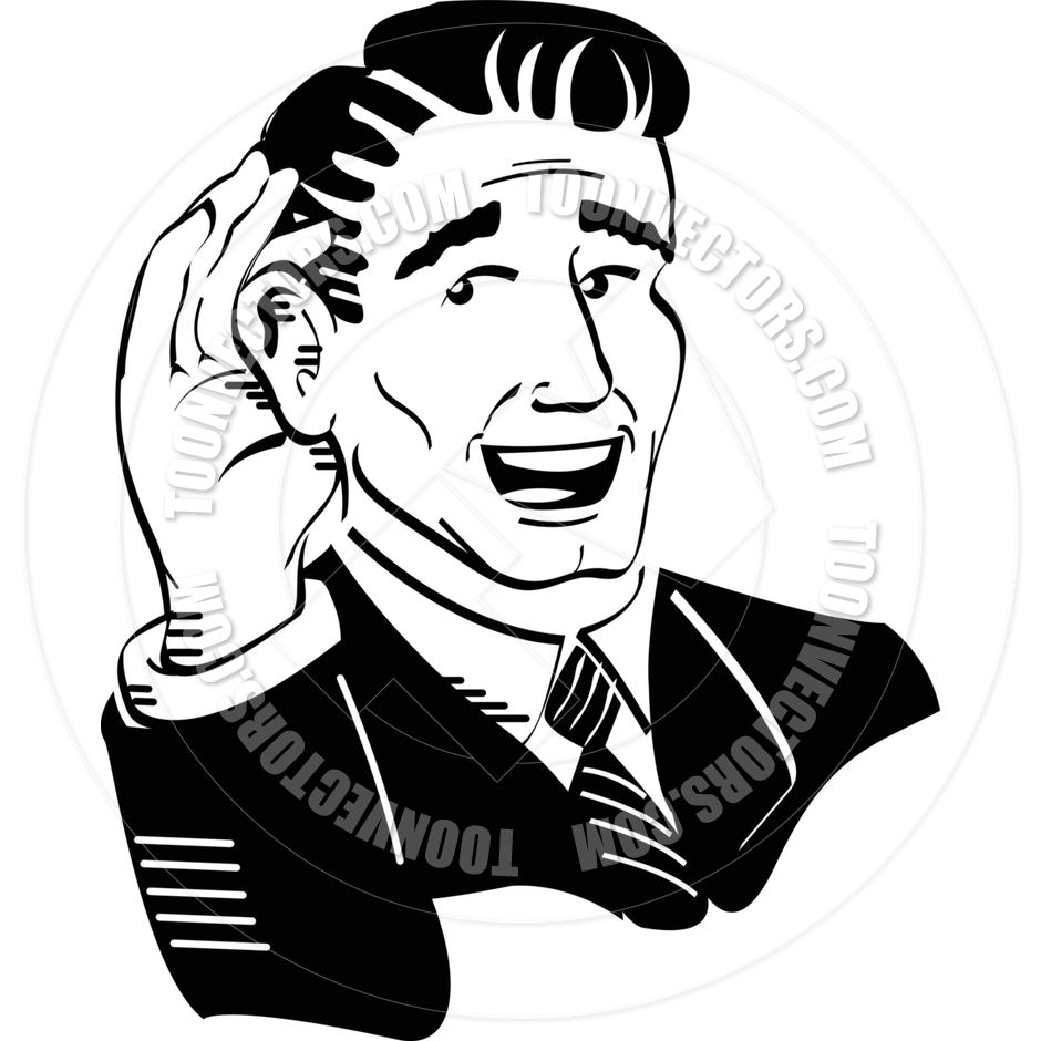 Free clipart of man with hand to ear graphic library library Listening Ears Clipart | Free download best Listening Ears Clipart ... graphic library library