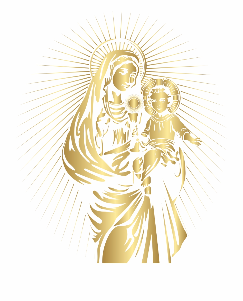 Free clipart of mary and baby jesus vector black and white download Blessed Virgin Mary And Baby Jesus Png Clip Art - Mary And Baby ... vector black and white download