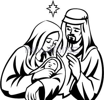 Free clipart of mary and baby jesus svg freeuse download Mary And Joseph In The Stable Graphic Clipart - Free Clip Art Images ... svg freeuse download