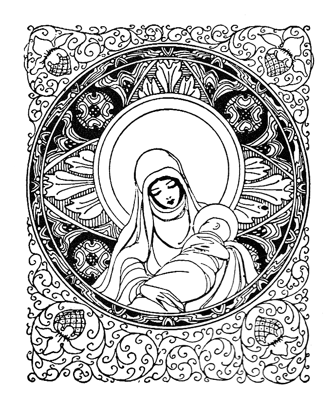 Free clipart of mary and baby jesus freeuse download Mary and Baby Jesus Clip Art - Free Clip Art freeuse download