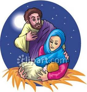Free clipart of mary and baby jesus png library library Mary and Joseph With Baby Jesus - Royalty Free Clipart Picture png library library