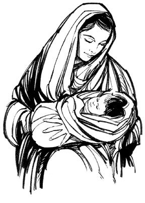 Free clipart of mary and jesus banner black and white download Mary Mother Of Jesus Clipart – Clipart Free Download banner black and white download